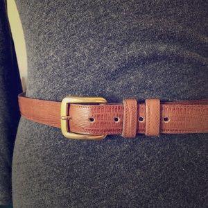 Anne Klein vintage belt 80a 90s brown brass L